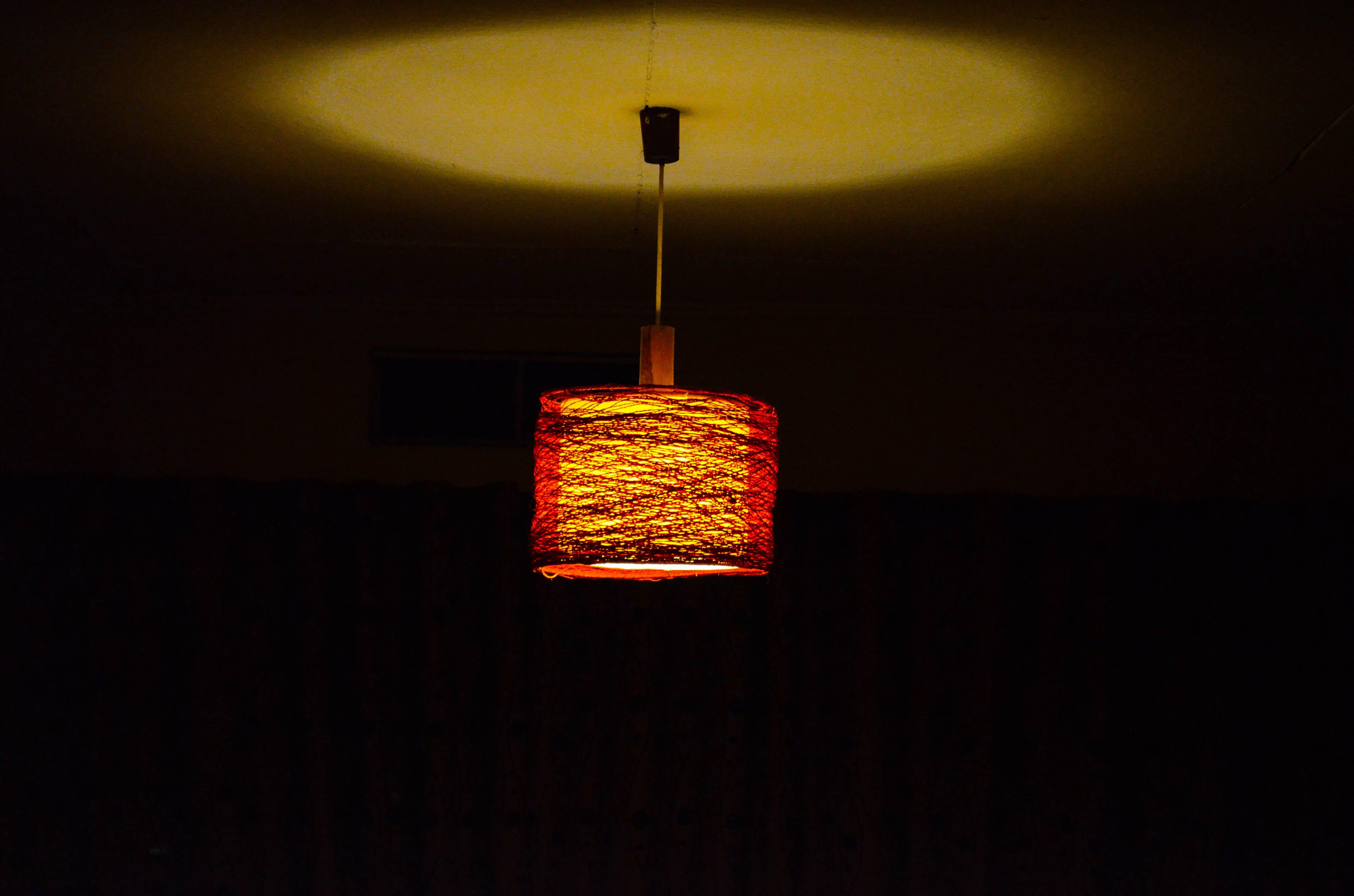 Free stock photo of ceiling, ceiling lamp, ceiling light, dark