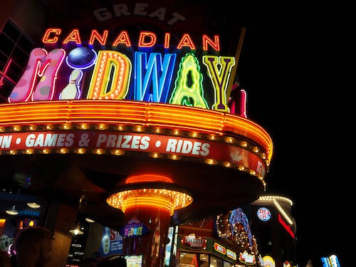 Free stock photo of canadian midway, clifton hill, games