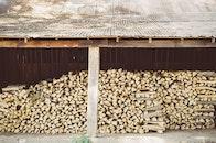 wood, firewood, stack
