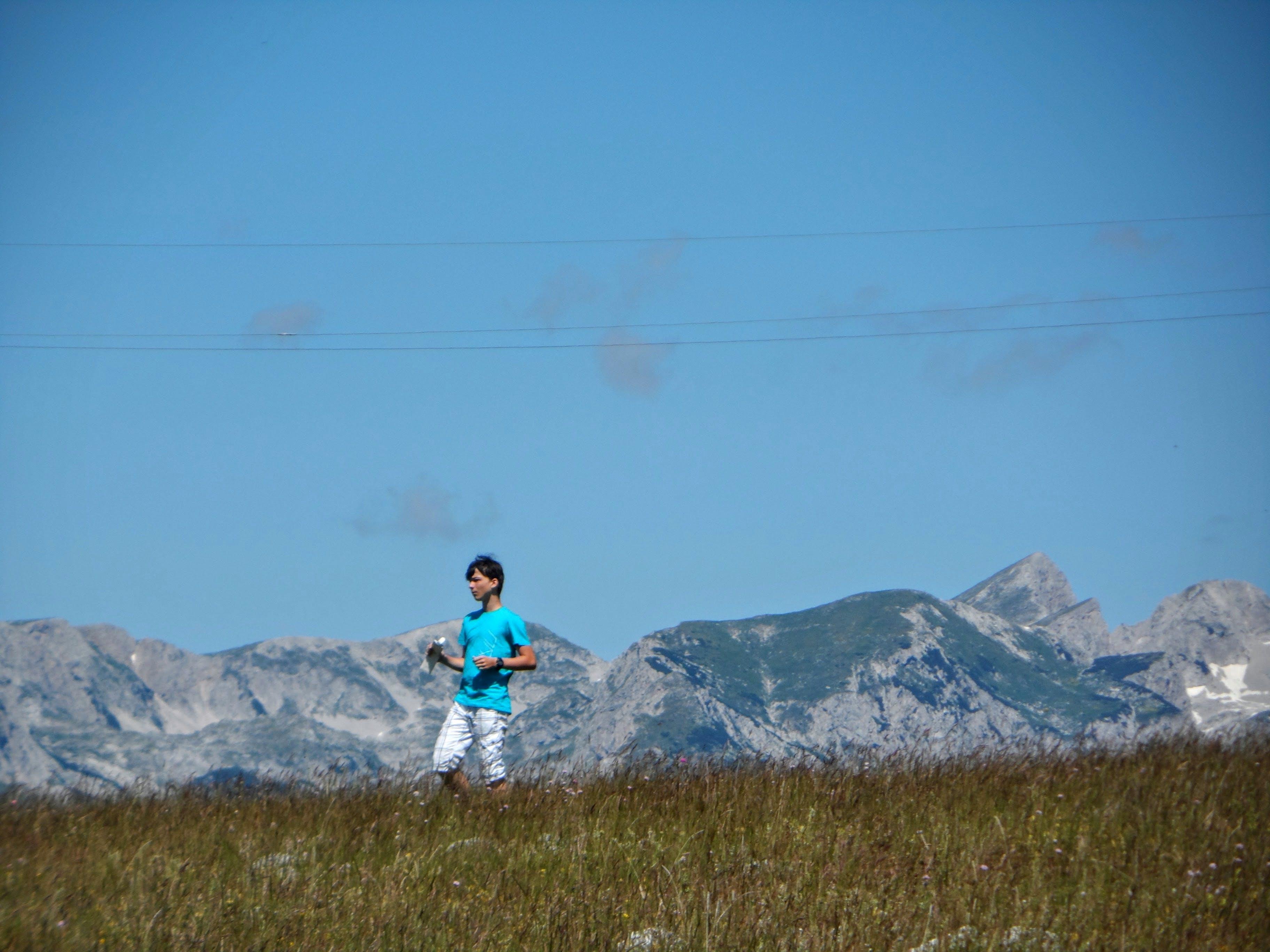 Free stock photo of field, grass, human, man