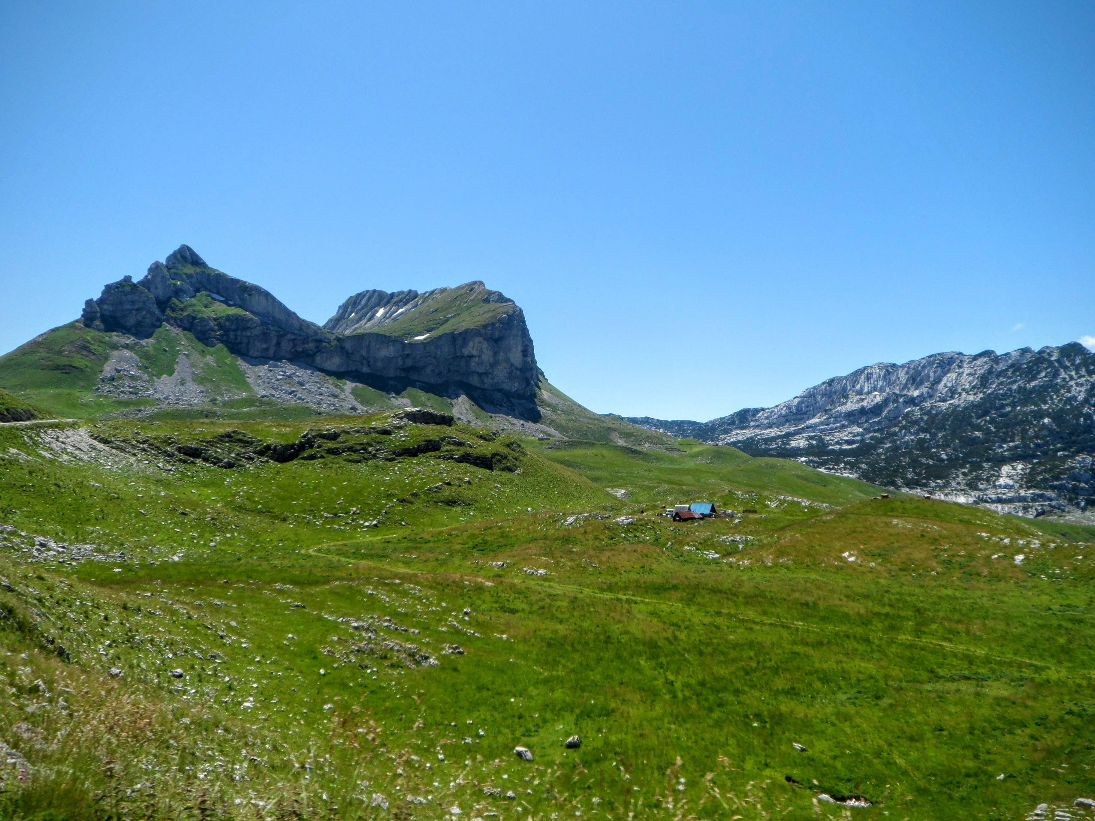 Free stock photo of grass, house, mountain
