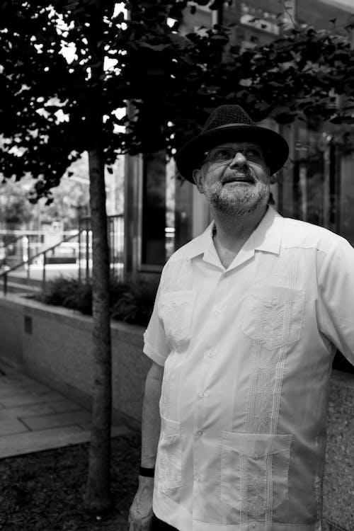 Foto d'estoc gratuïta de ancians, buscant, dempeus, escala grisa