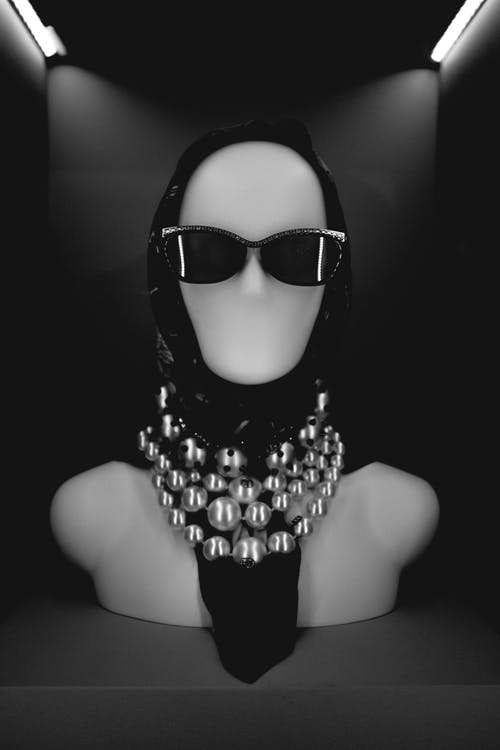 Black Sunglasses On A Mannequin