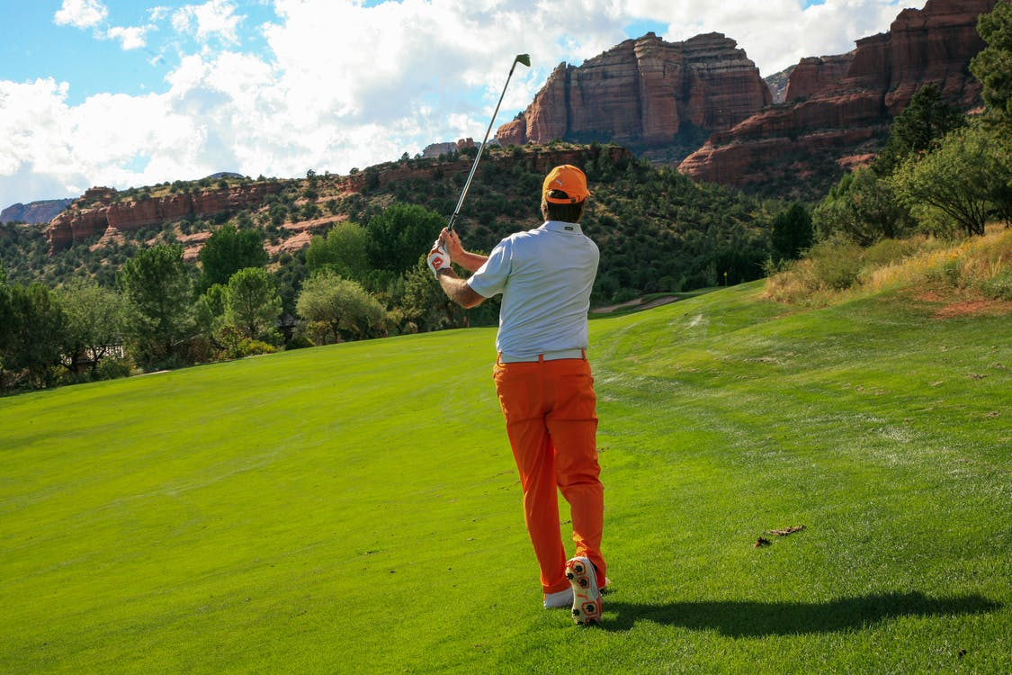 Fotografie Van Man Golfen