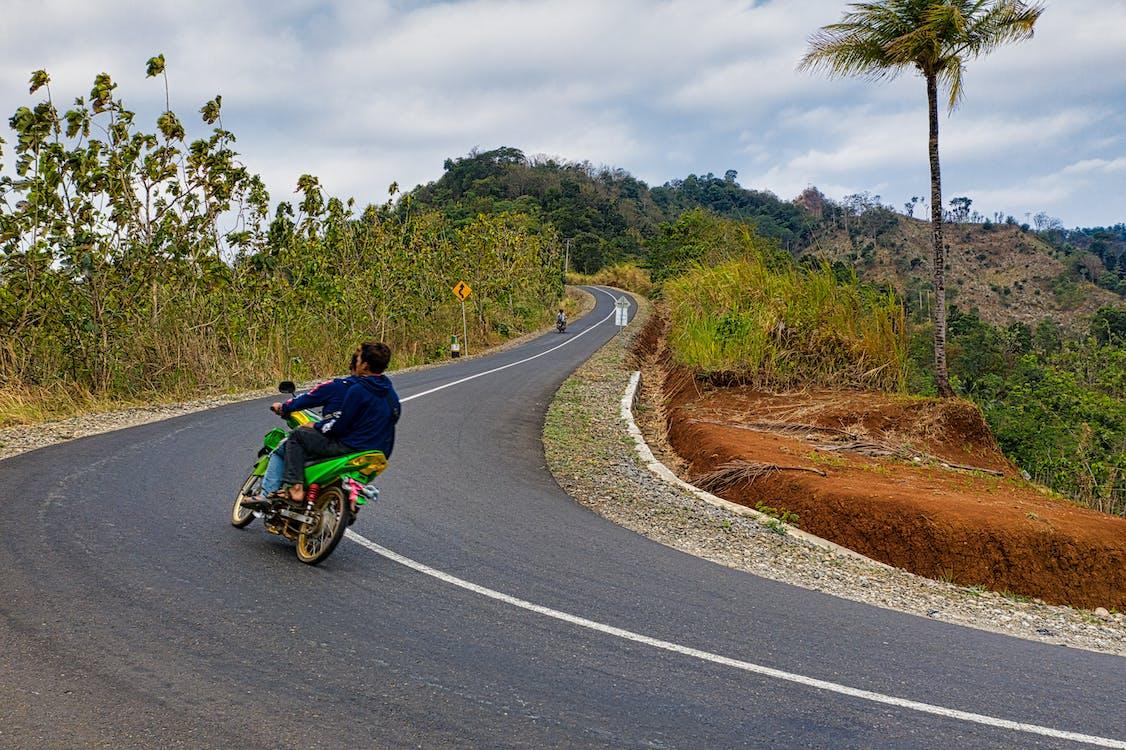 asfalt, bicyklovanie, cesta