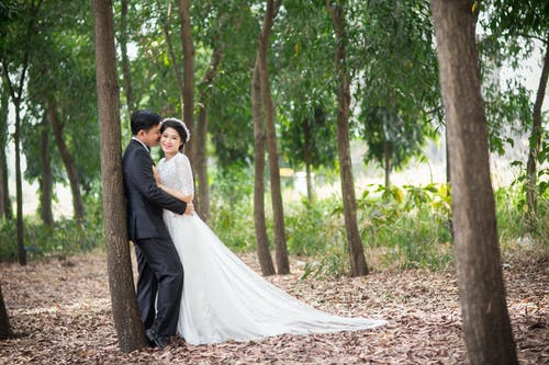 Photo Shoot Of A Wedding Couple