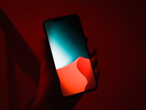 Základová fotografie zdarma na téma 4k tapeta, červené světlo, iphone xs, lehký