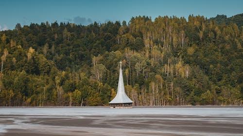 Základová fotografie zdarma na téma cestování, denní světlo, jezero, kaple