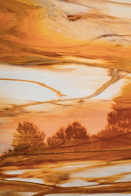 Abstract painting of nature
