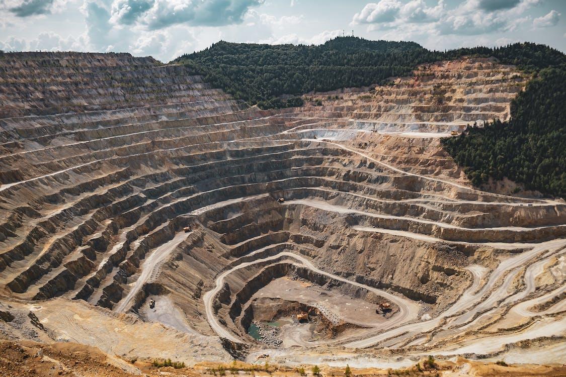 Mining Excavation On A Mountain