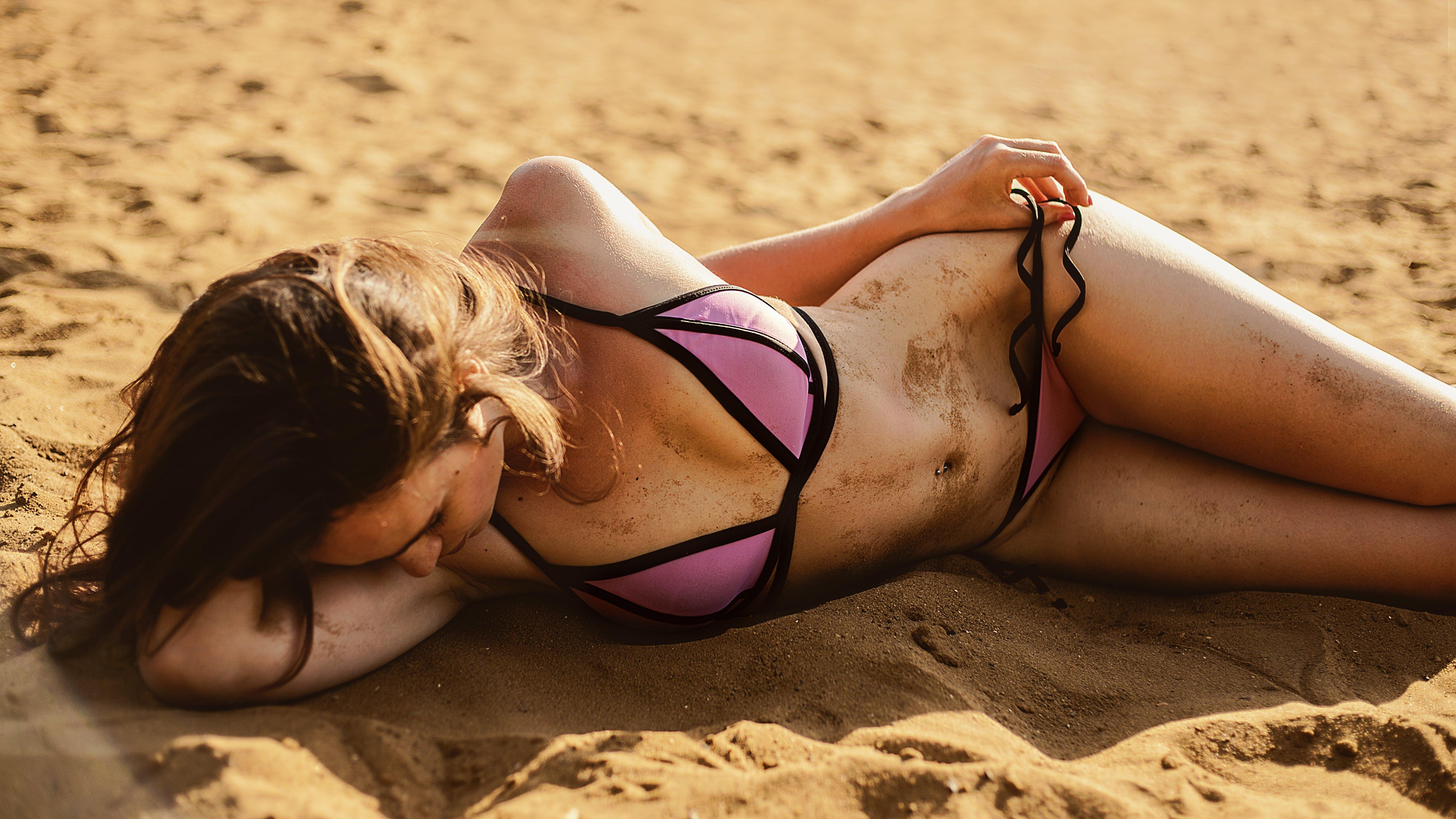 adult, attractive, beach