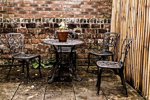 Бесплатное стоковое фото с красивые цветы, обеденный стол, стулья