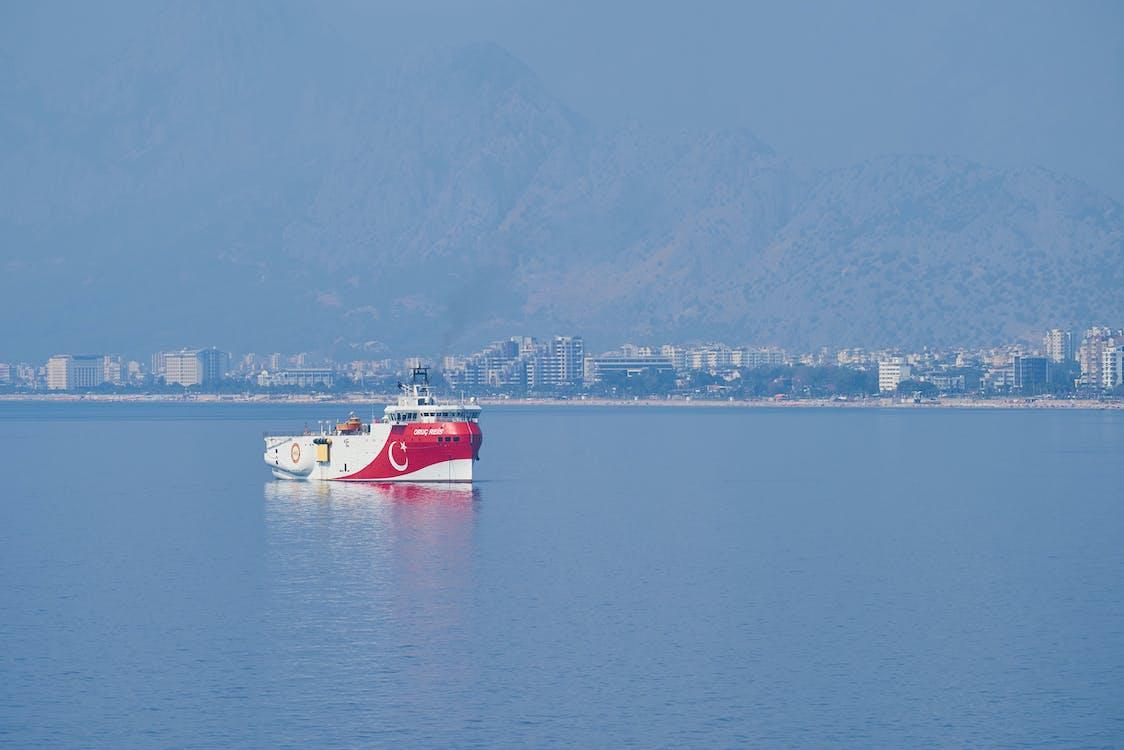 Free stock photo of background, boat, cargo ship