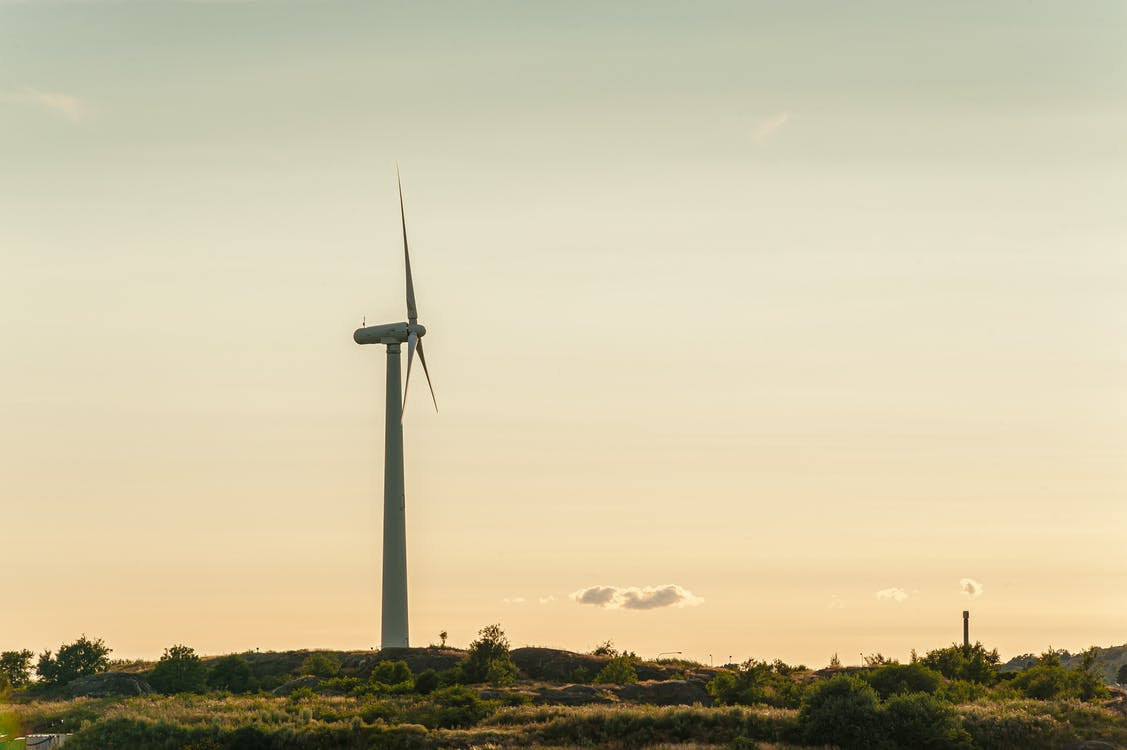 Gray Wind Turbine