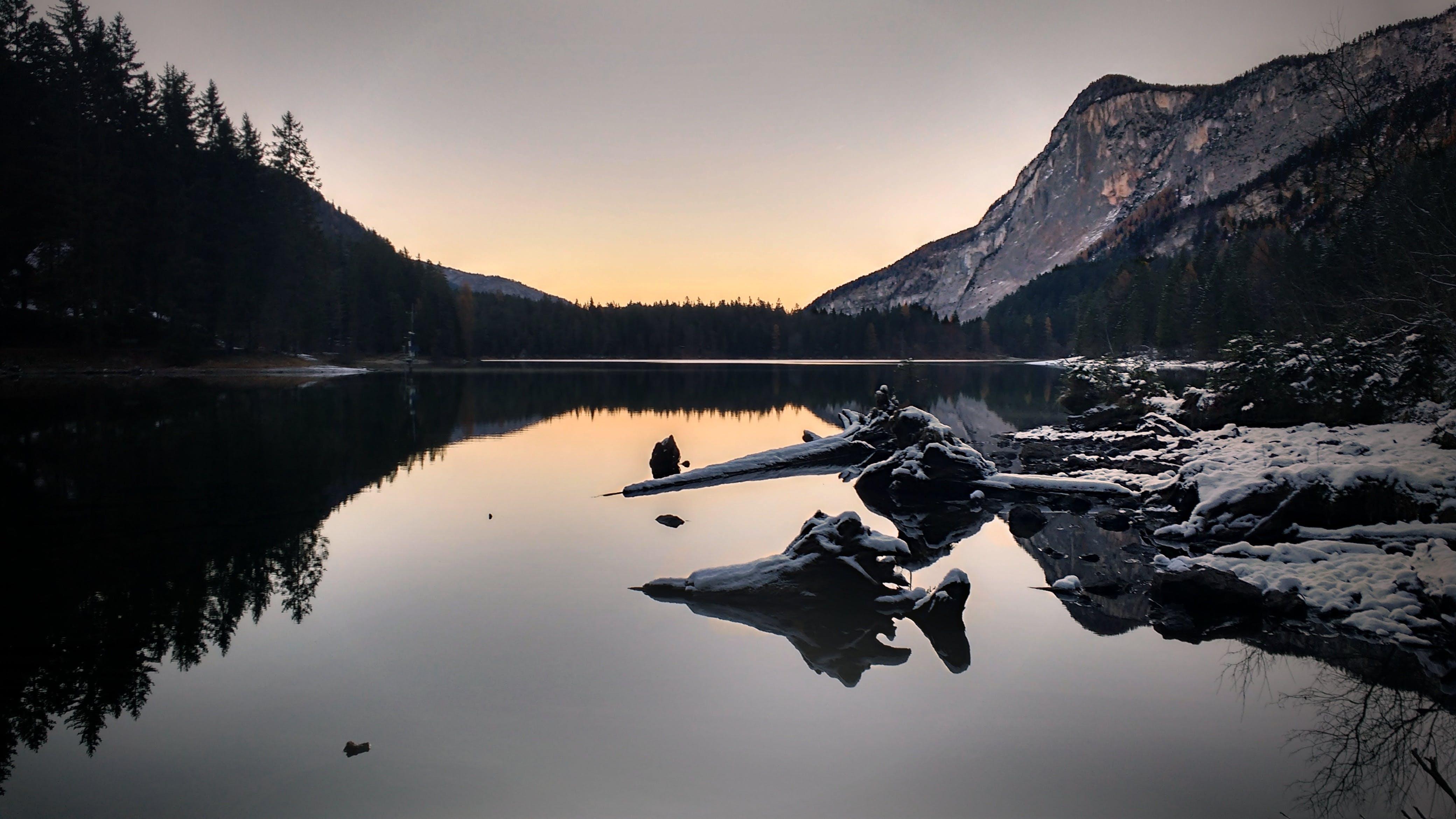 Free stock photo of snow, dawn, landscape, sunset