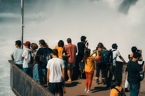 People Standing on Viewing Platform