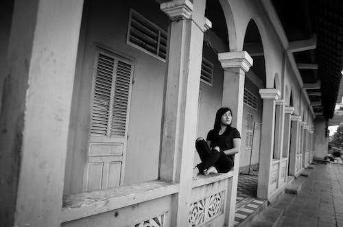 Základová fotografie zdarma na téma asijská holka, sám, smutný