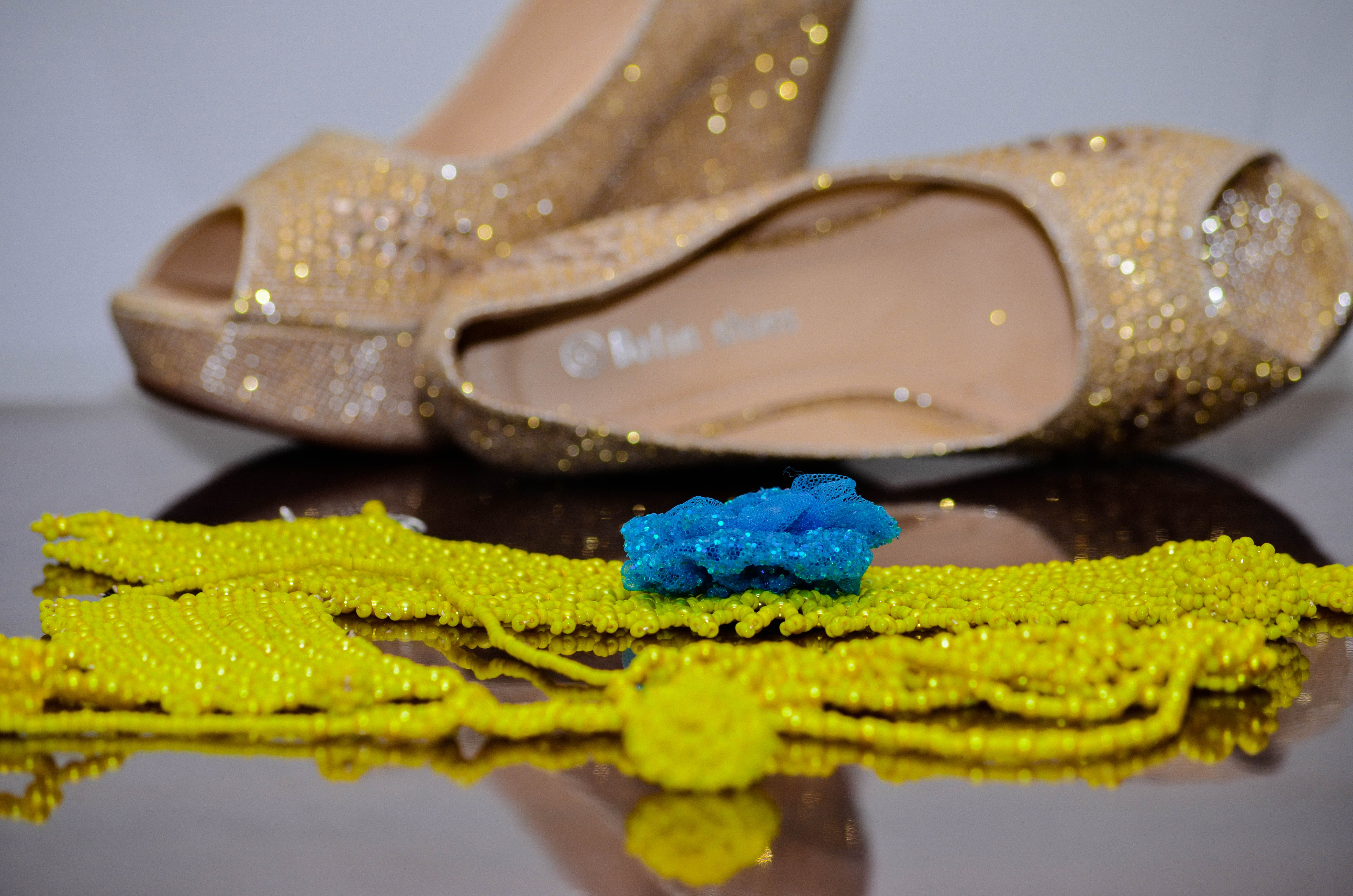 Free stock photo of african, beads, footwear, golden