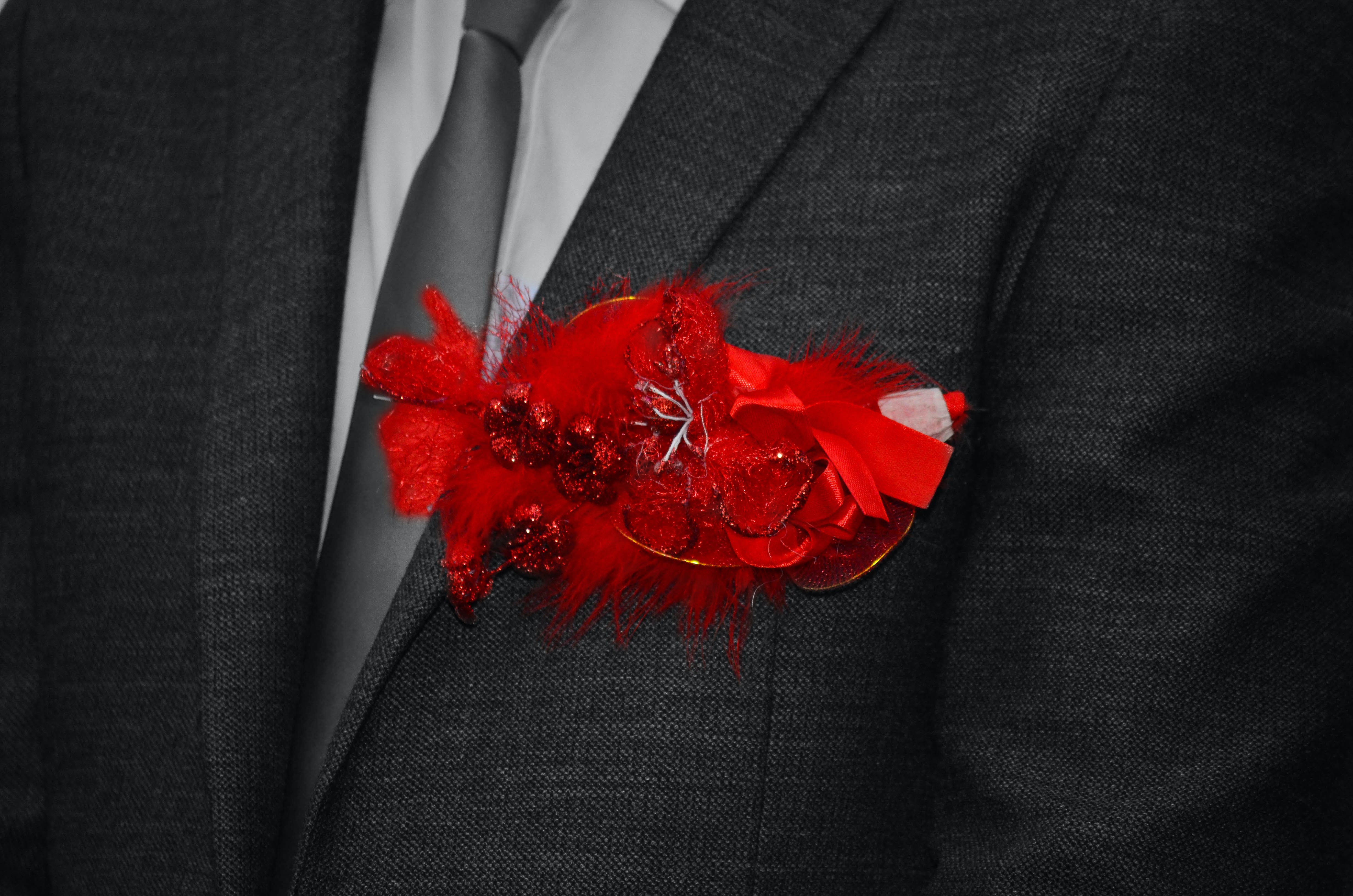 Free stock photo of black and white, designer suit, flower, man