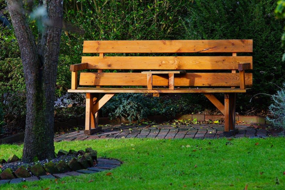 backyard, bench, chair
