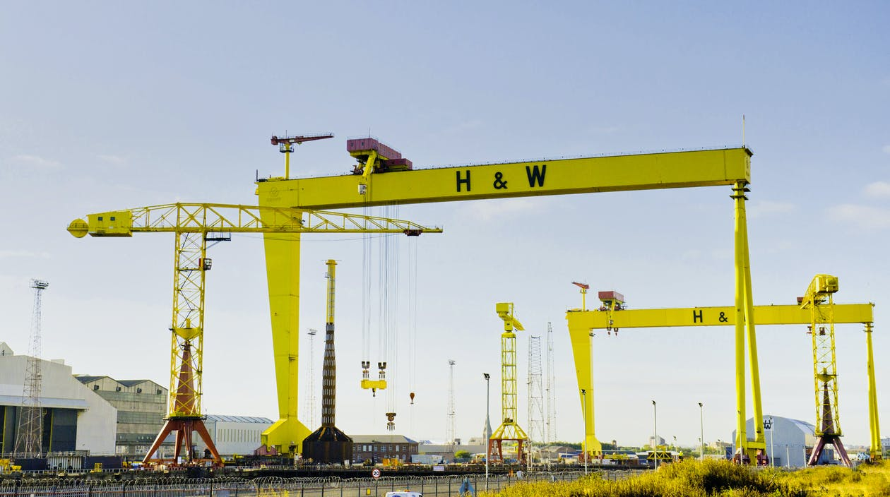 Yellow Cargo Ship Crane