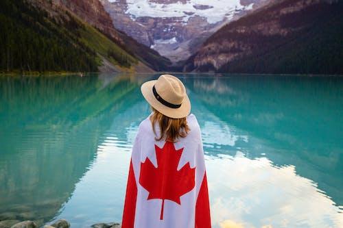 アルバータ, カナダ, カナダの旗, バンフの無料の写真素材