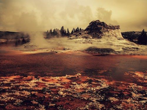 シーン, ナチュラル, 噴火, 夜明けの無料の写真素材