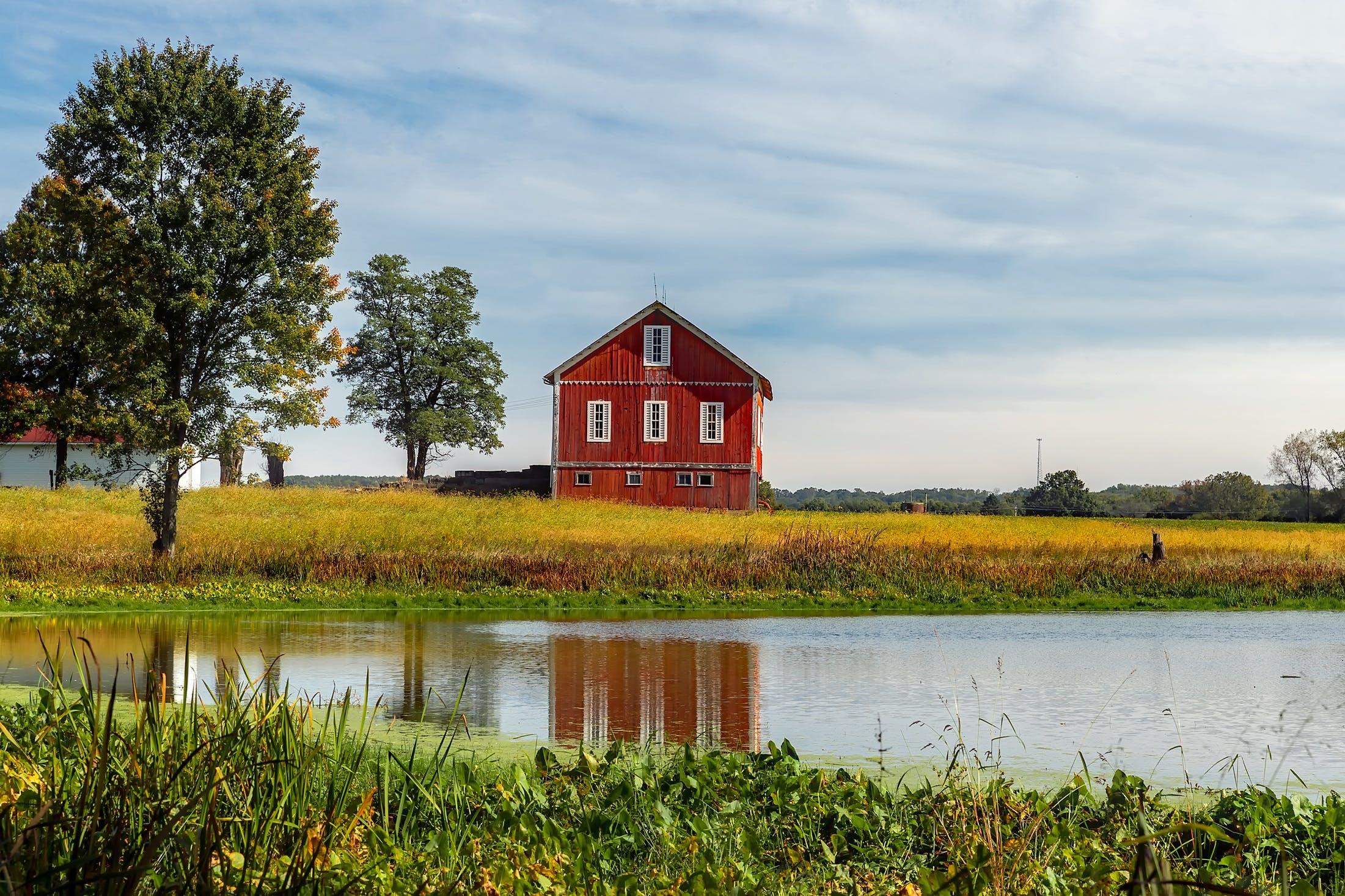 barn, countryside, farm