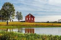 water, field, countryside