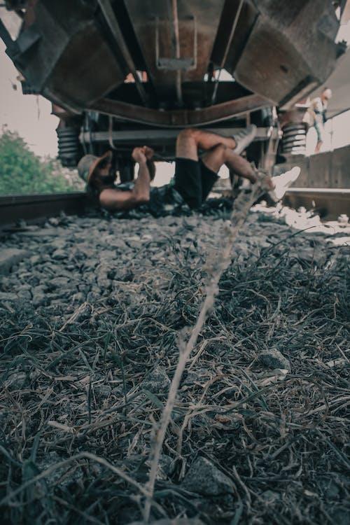 คลังภาพถ่ายฟรี ของ #train #cowboy