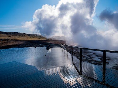Free stock photo of bridge, cloud, fog, hot spring