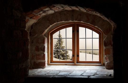Free stock photo of snow, wood, building, bricks