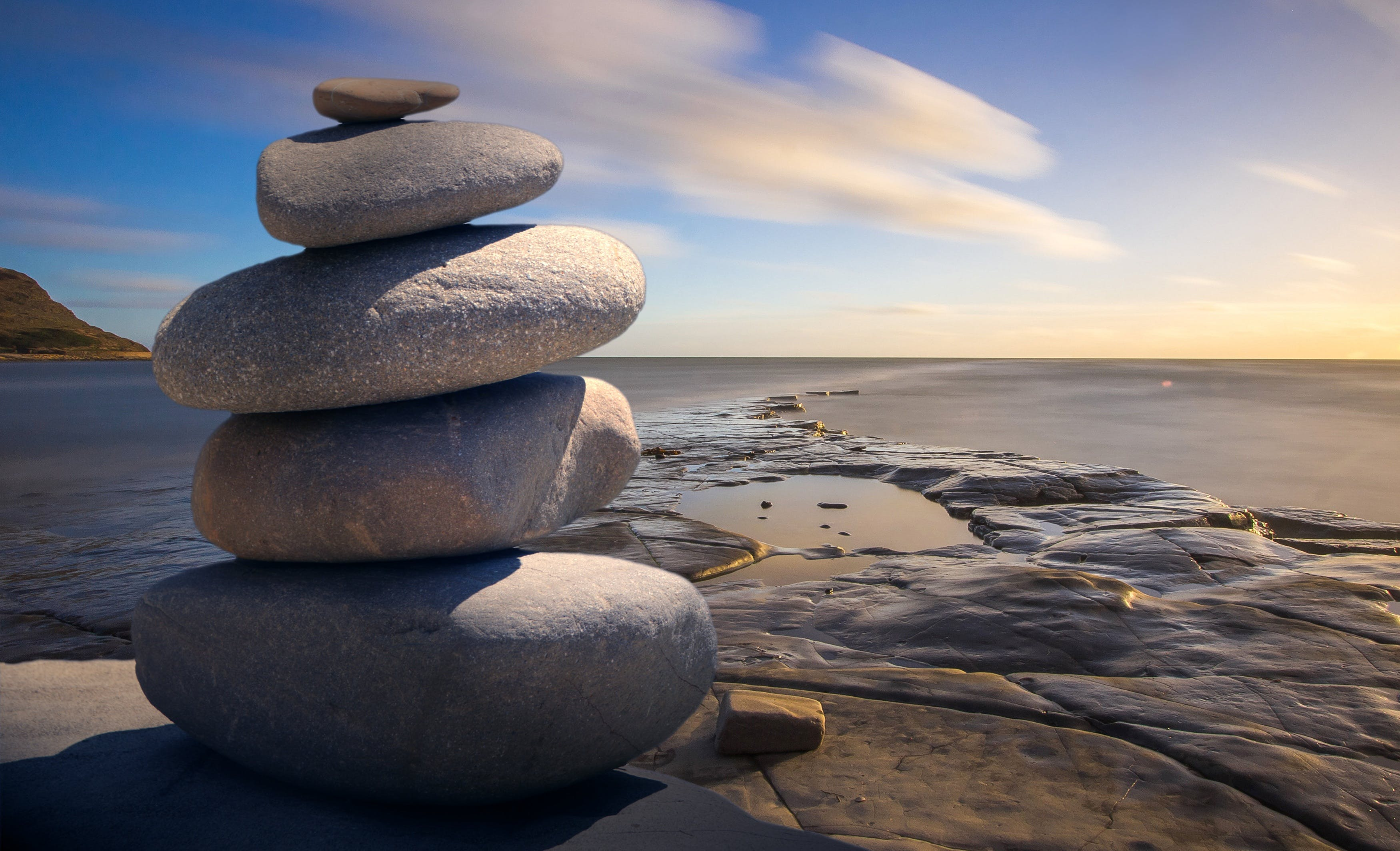 Stacked of Stones Outdoors