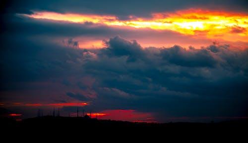 Foto stok gratis alam, angin ribut, awan, backlit