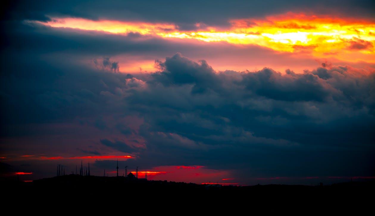 bakbelysning, bakgrunn, daggry