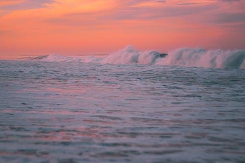Free stock photo of beach, down, sea, waves
