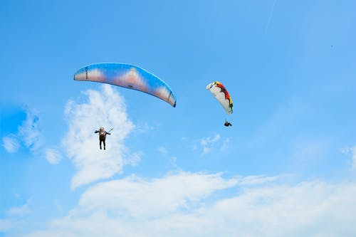 Free stock photo of bukit jugra, fly, paragliders, paragliding