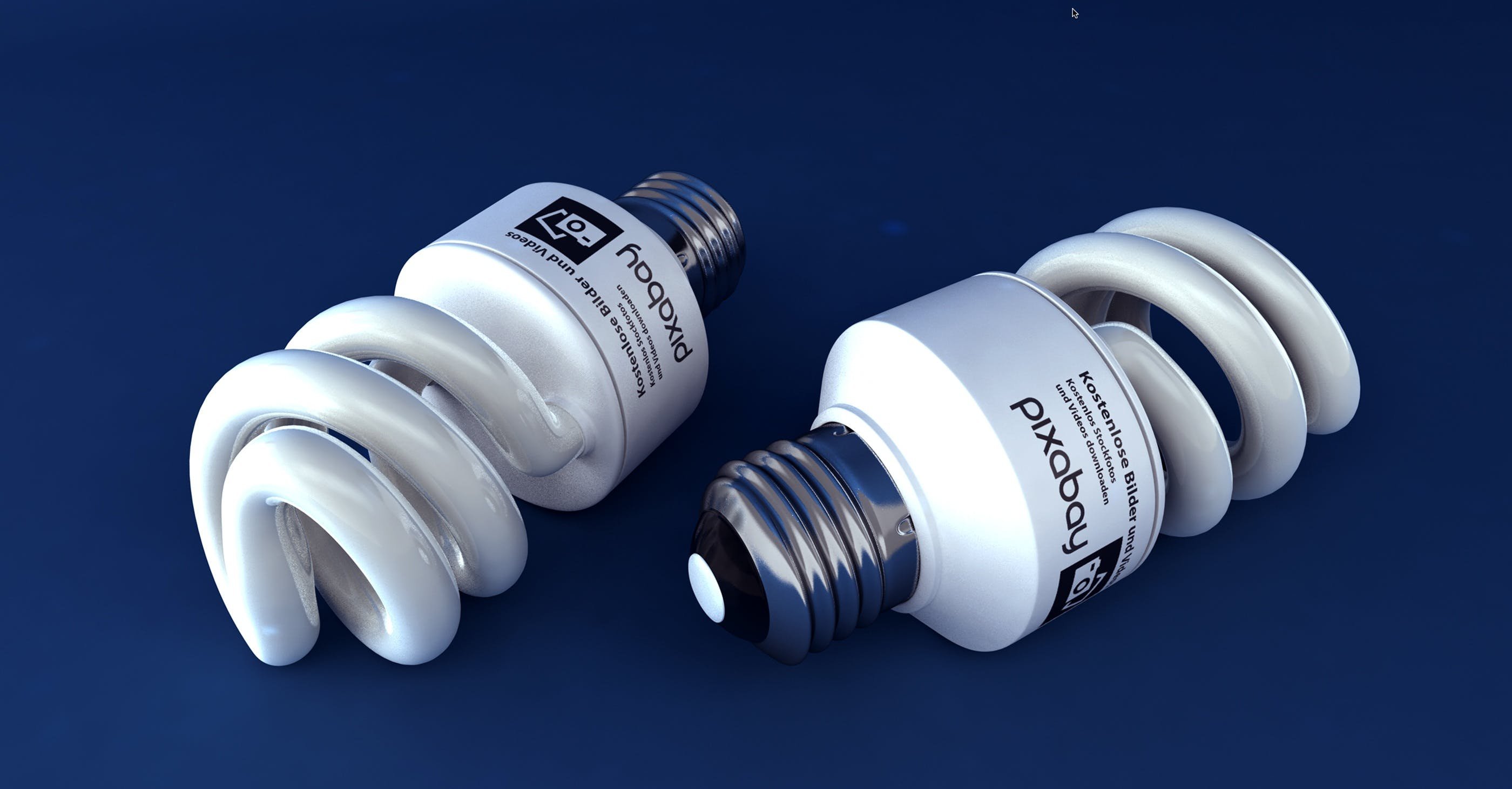 Two White Cfl Light Bulbs