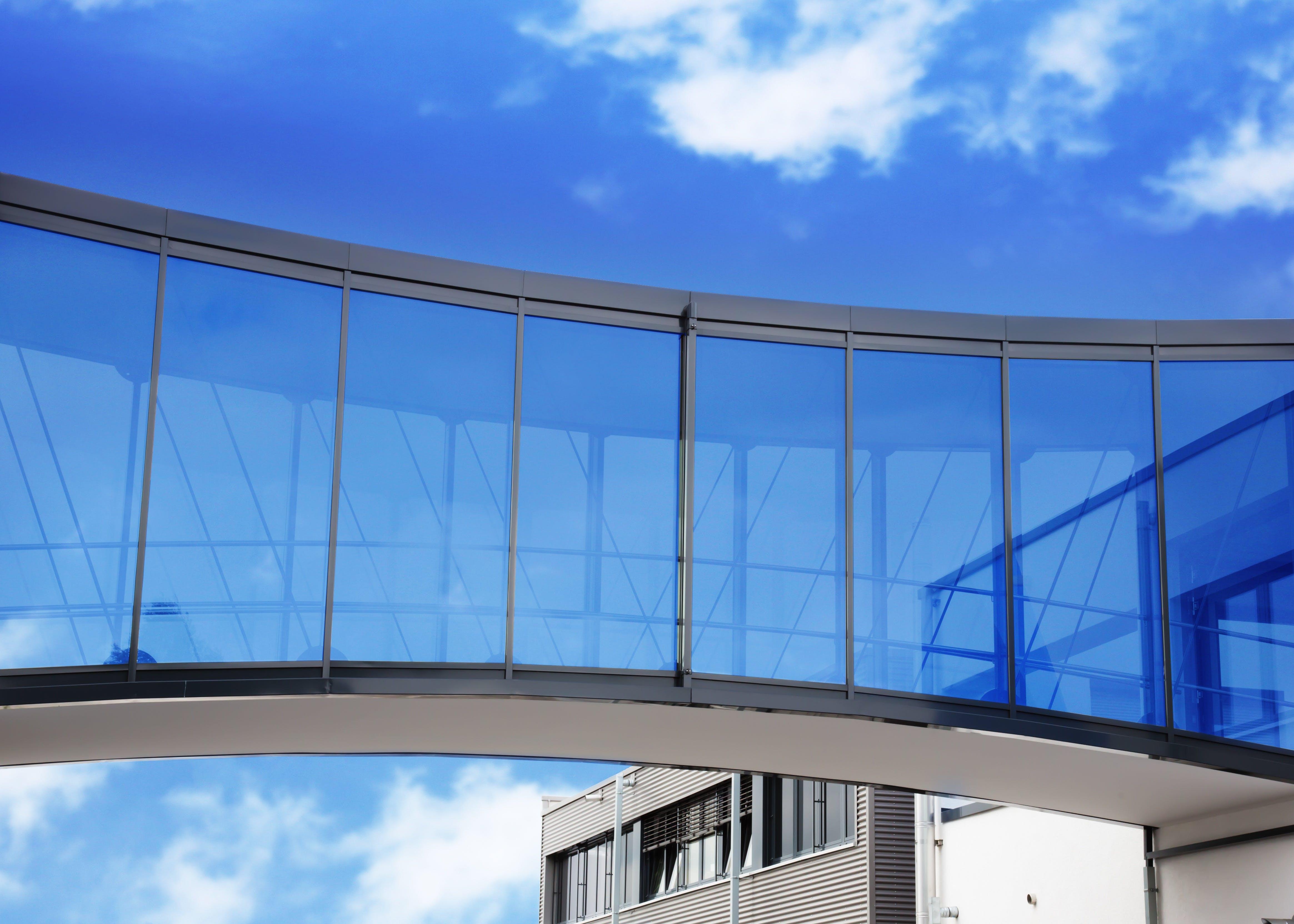 architecture, blue sky, bridge