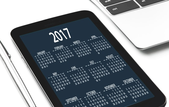 Free stock photo of date, tablet, calendar, display