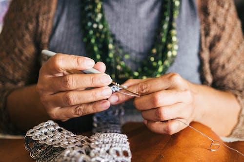 かぎ針編み, スキル, フック, 人の無料の写真素材