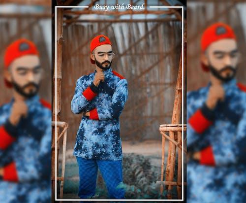 Imagine de stoc gratuită din băiat african, barbă, c, design vestimentar