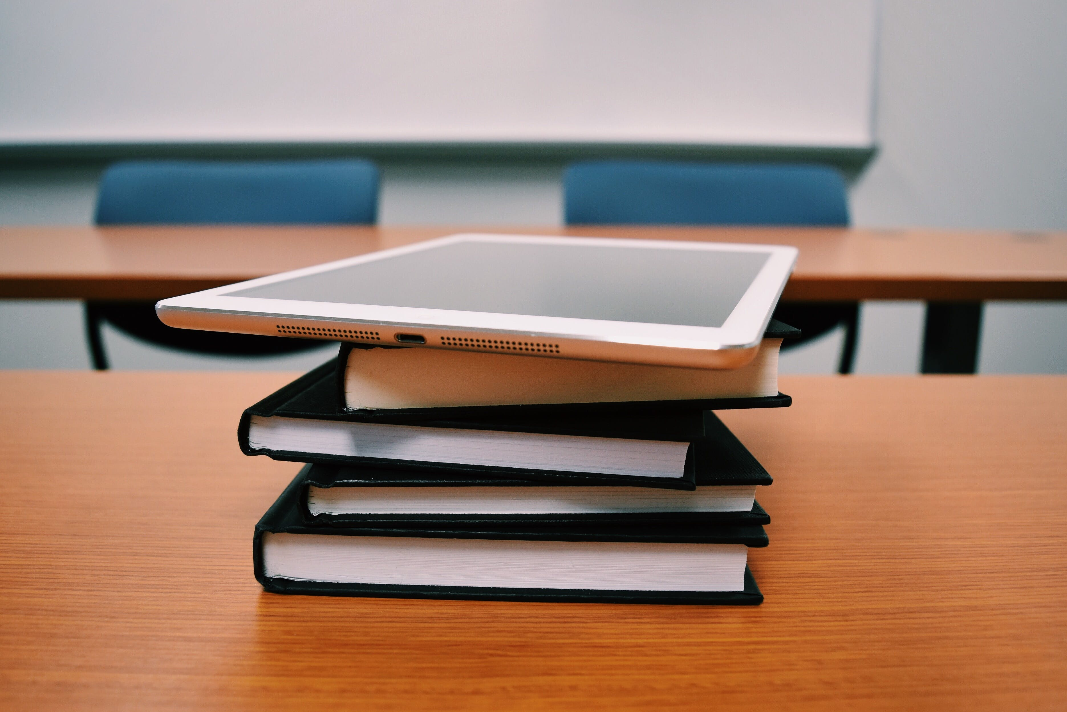 Free stock photo of books, desk, school, table