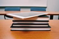 smartphone, books, desk