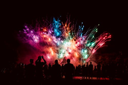 Multicolored Fireworks