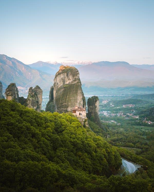 ギリシャ, ハイアングルショット, 修道院