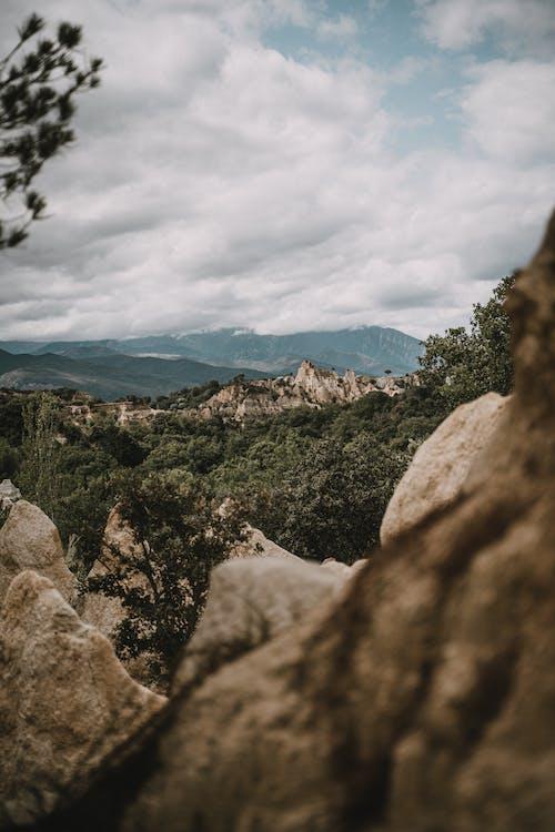 Kostenloses Stock Foto zu abenteuer, bäume, berge, bewölkt