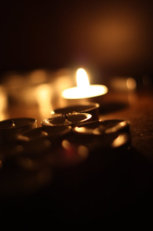 Free stock photo of candle, candles, tea light