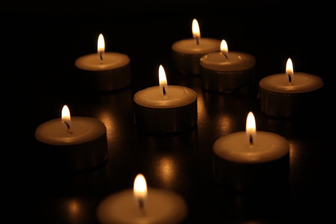 Flaming Gray Candles
