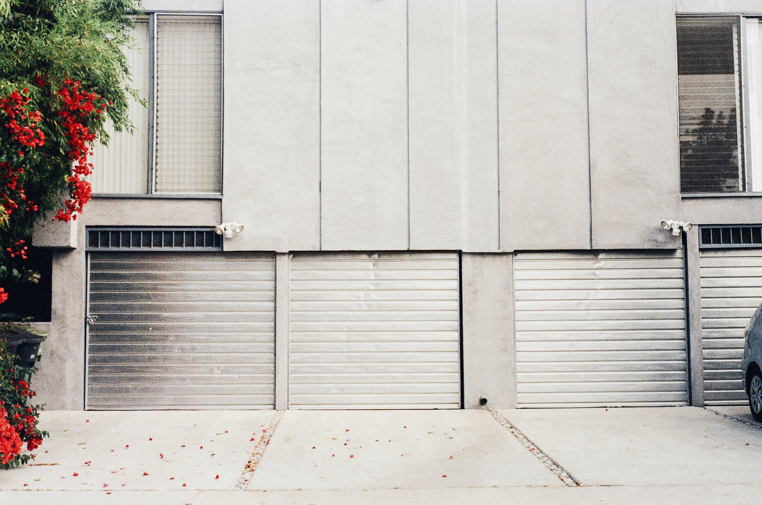 Gray Metal Shutter Door at the Garage